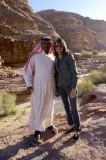 Naif and Marla in Lawrence's Canyon