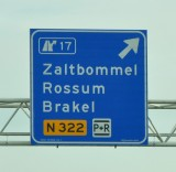 Highway signs of The Netherlands