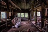 abandoned country home