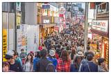 Crowds Takashita Street Tokyo