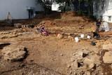 13th century log house under excavation