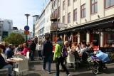 Icelanders enjoying the sun