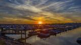 Sunset On NFTA Boat Harbor