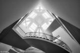 Le nouvel escalier de la bibliothèque nationale universitaire de Strasbourg