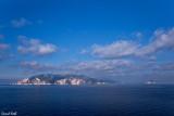 On aperçoit les premières îles grecques.