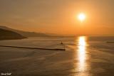 Lever du jour à l'entrée du port de Volos
