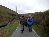 Heading down to Lower Lliw Reservoir