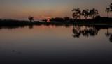 Sun setting in the Delta