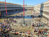 Crowds in the Piazza San Marco (St. Mark's Square)