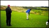 Mike tees off for birdie No 2 attempt at this par three