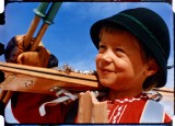 Little Skier Samples 1956 Kodachrome