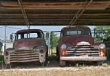 Two Chevy trucks