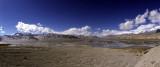 Kumtagh Sand Mountain and Ghez River Valley, Karakoram Highway, Xinjiang, China