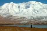 Kirghiz and Mt Kongur, Karakul Lake, Xinjiang, China