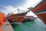 Dhows in Dubai Harbour