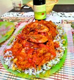 Classic Russian Dish, Seafood Paella with Wild Rice