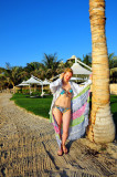 Supermodel Vlada On Private Beach in Shangri La