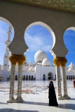 Russian Girl in Sheikh Zayed Mosque