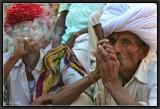Smoking Party in the Street. Jojawar.