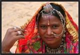 Raising the Veil. Jaisalmer.