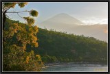 A Fishermen's Village on the East Coast and Agung Volcano.