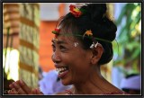 Hostess Welcoming the Guests on a Private Religious Ceremony. Ubud.