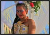 A Dancer at a Marriage Ceremony. Kuta.