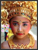 A Very Young Legong Dancer Ready to Perform. Tuban.