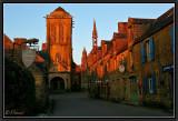 Sunset Light on St-Ronan Church. Locronan.