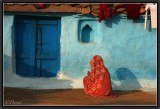 One of the Colorful Houses of Orchha.