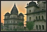 Sunset on Chhatri (Cenotaphs of the governors of Orchha).