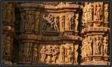 Khajuraho Temples - West Complex. Details.