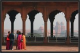 Red Fort. View from Jama Masjid.- Old Delhi.