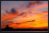 A Scarlet Sunset.