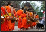 Morning alms. Luang Prabang.