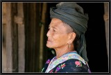 Portrait of a Hmong in a village near Luang-Prabang.