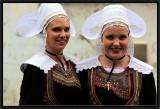 Two Happy Girls. Ceremonial dresses of St-Evarzec.