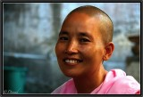 Portrait of a Nun. Mandalay.