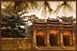 Portico Entrance of Minh Mang's Grave. Hué.