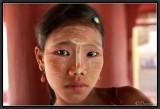 The Burmese teenager with Thanaka.