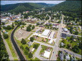 Coudersport, Allegheny shown in flood control channel.