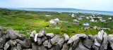 Inisheer in the Aran islands, with Inishmaan in the distance