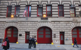 Old fire house on Duane Street NYC