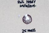 .177 BSA Meteor 10-shot group with RWS Hobby at 25 yards