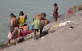 bathers at ganga