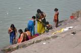 women children at ganga