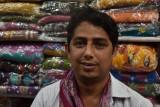 Jaipur market - my Indian pants salesman