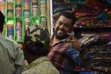 Jaipur market - my five bracelets salesman