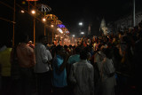 Evening ceremonies at the Ghat - putting the river to sleep