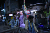rickshaw ride back from river - Anwar with Krishna